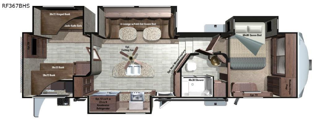 Open Range Roamer RF367BHS Floorplan Image