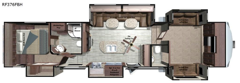 Open Range Roamer RF376FBH Floorplan Image