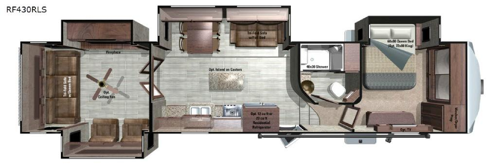 Open Range Roamer RF430RLS Floorplan Image