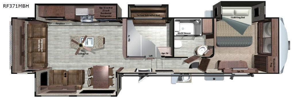 Open Range Roamer RF371MBH Floorplan Image
