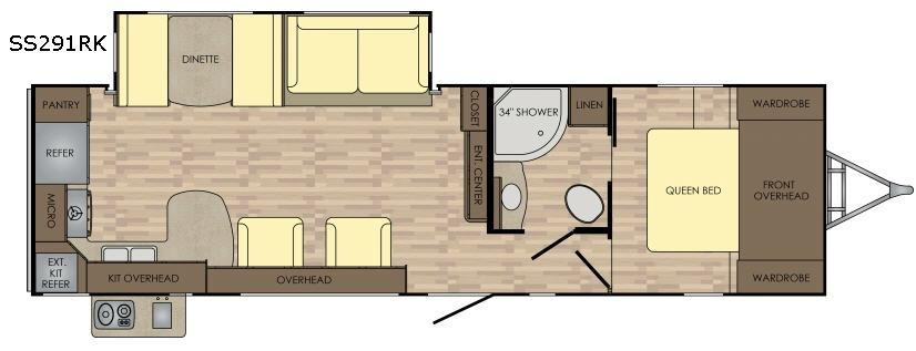 Sunset Trail Super Lite SS291RK Floorplan Image
