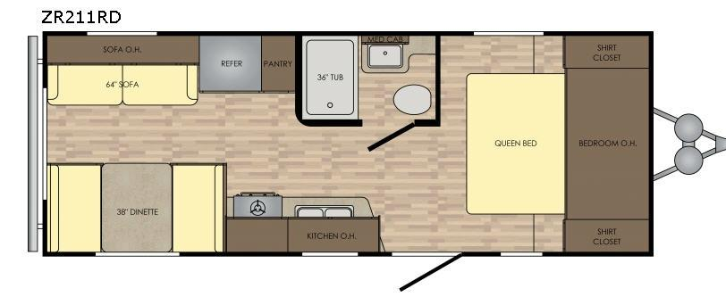 Zinger Z1 Series ZR211RD Floorplan Image