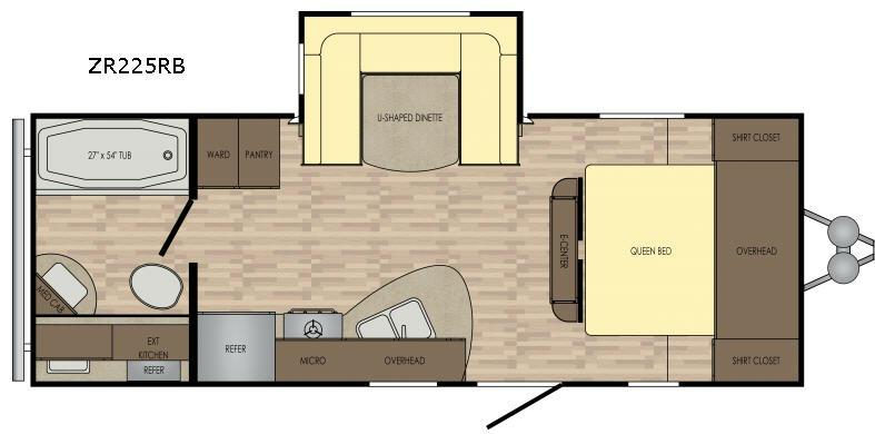 Zinger Z1 Series ZR225RB Floorplan Image
