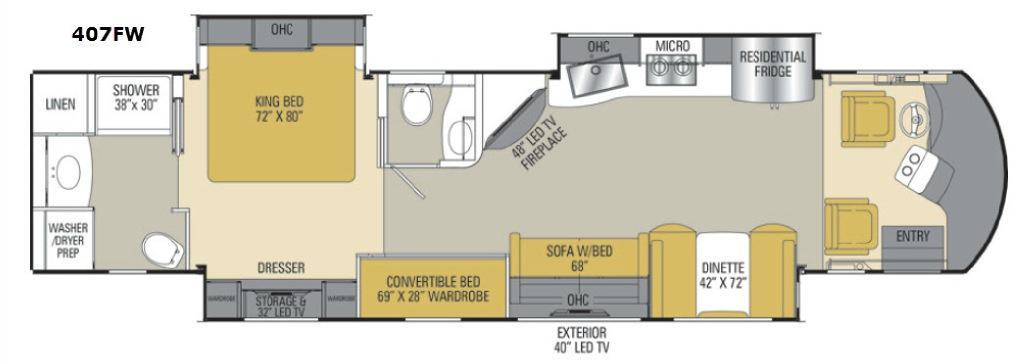 Sportscoach Cross Country RD 407FW Floorplan Image