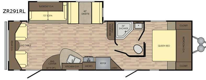 Zinger Z1 Series ZR291RL Floorplan Image