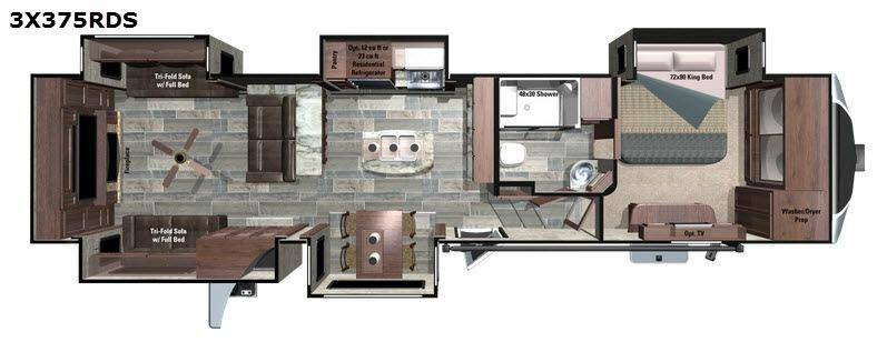 Open Range 3X 375RDS Floorplan Image