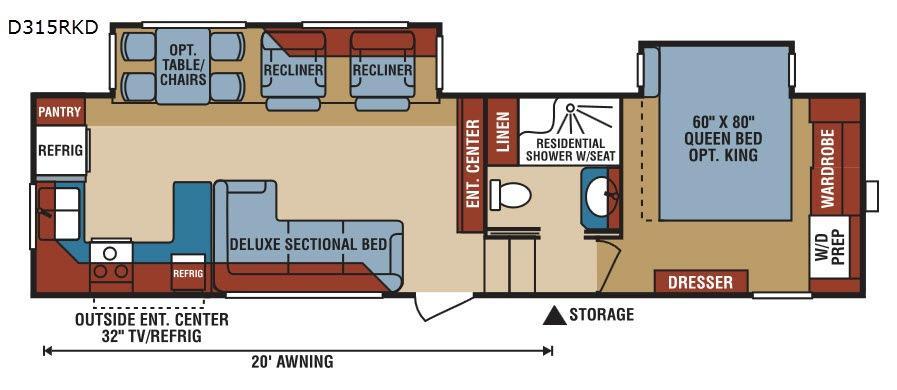 Durango 2500 D315RKD Floorplan Image