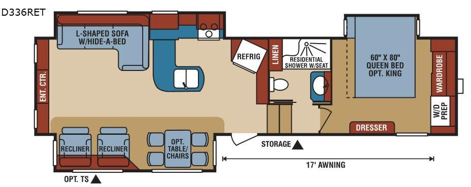 Durango 2500 D336RET Floorplan Image
