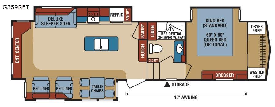 Durango Gold G359RET Floorplan Image