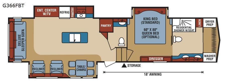 Durango Gold G366FBT Floorplan Image