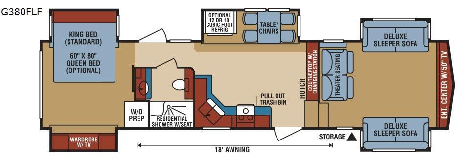 Durango Gold G380FLF Floorplan Image