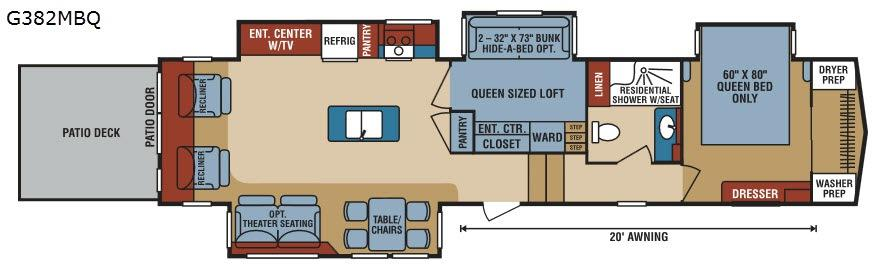 Durango Gold G382MBQ Floorplan Image