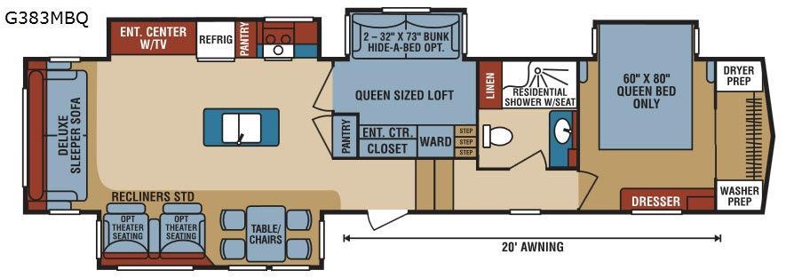 Durango Gold G383MBQ Floorplan Image