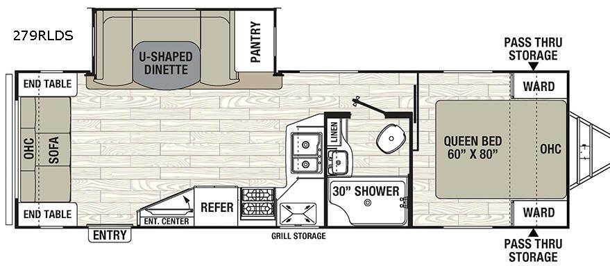 Freedom Express 279RLDS Floorplan Image