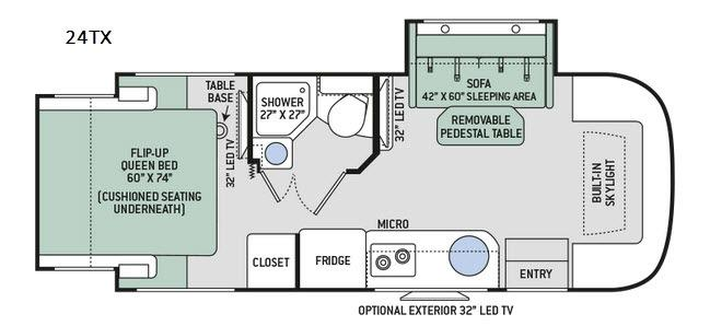 Gemini 24TX Floorplan Image