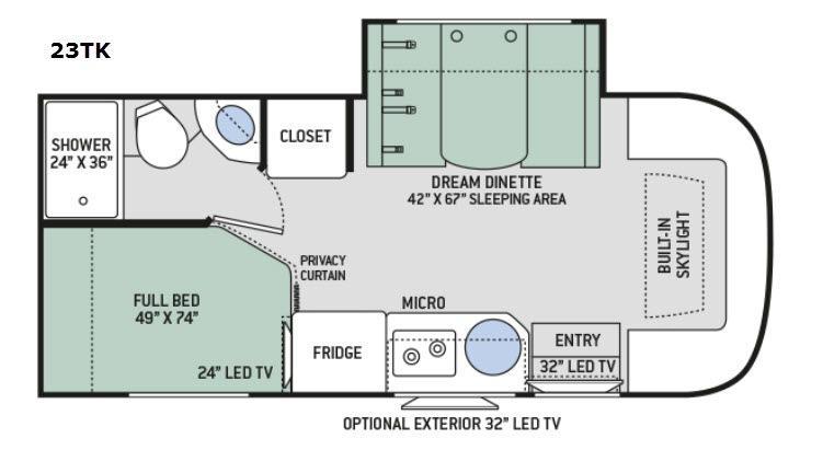 Gemini 23TK Floorplan Image