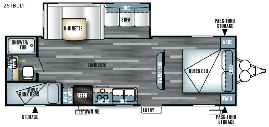 Salem 26TBUD Floorplan Image