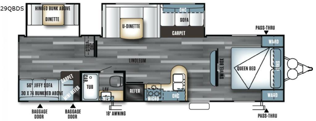 Salem 29QBDS Floorplan Image