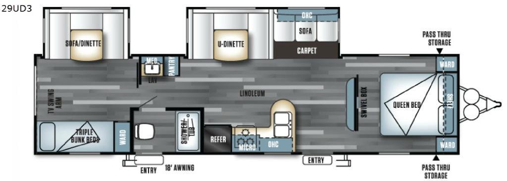 Salem 29UD3 Floorplan Image