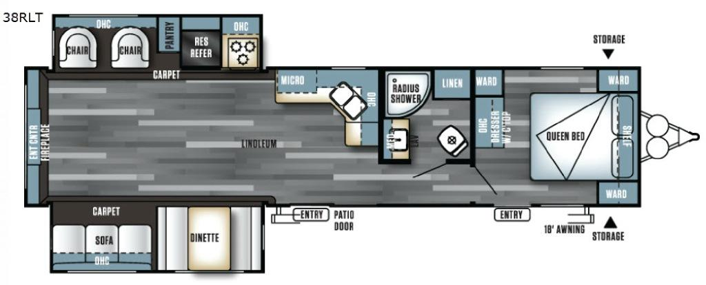 Salem 38RLT Floorplan Image