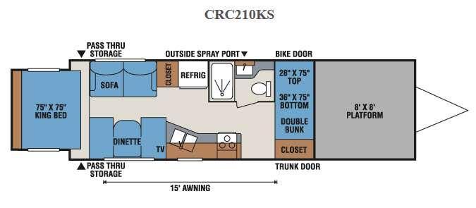 MXT CRC210KS Floorplan Image