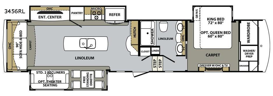 Cardinal 3456RL Floorplan Image