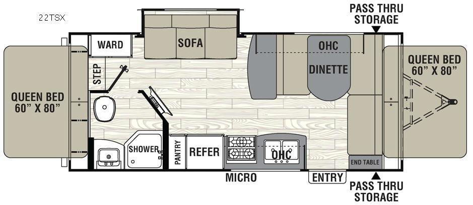 Freedom Express 22TSX Floorplan Image