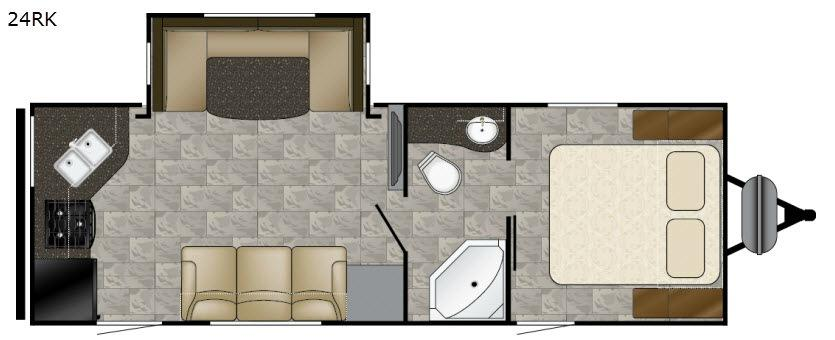 Trail Runner 24RK Floorplan Image