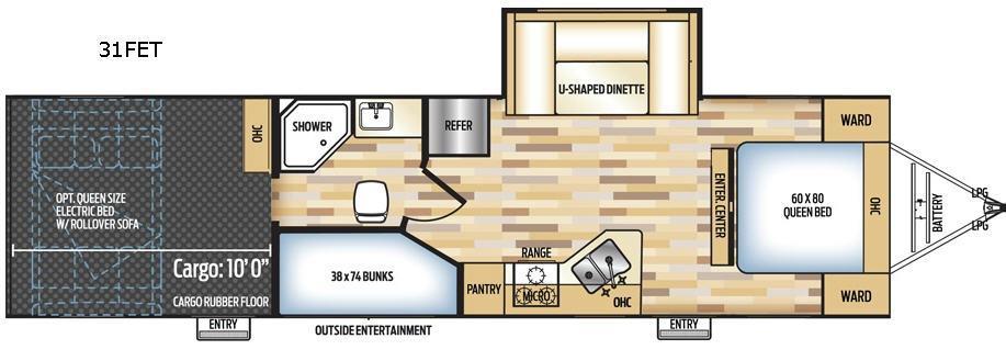 Adrenaline 31FET Floorplan Image