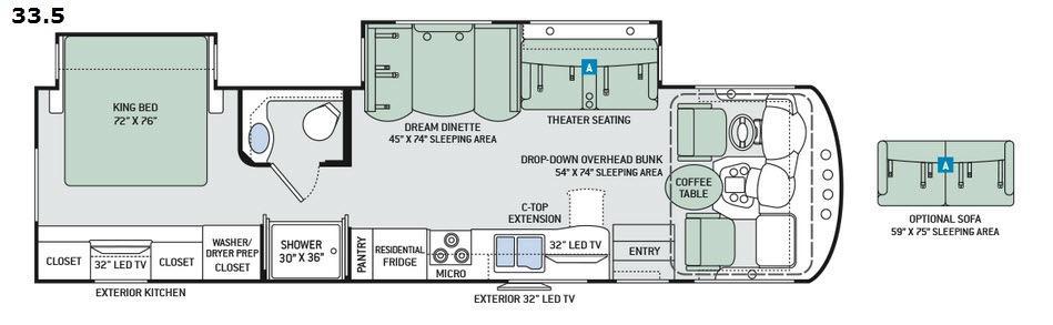 Miramar 33.5 Floorplan Image