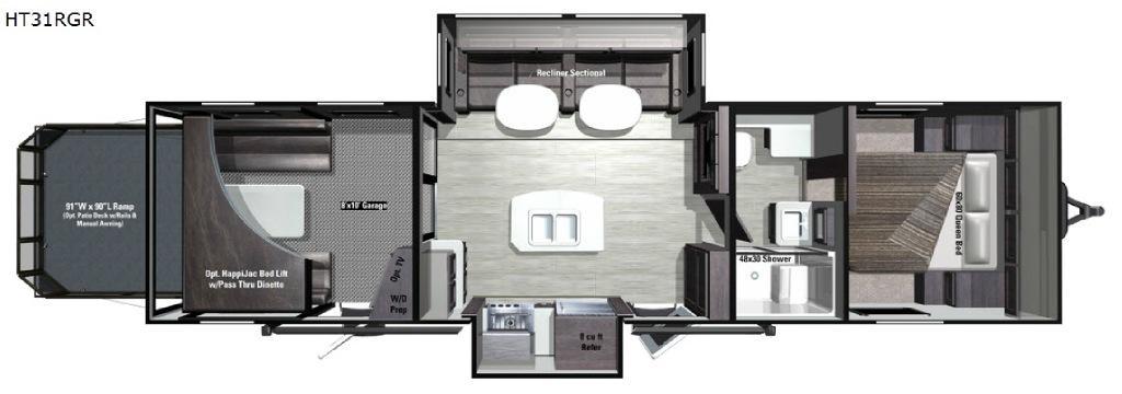 Highlander HT31RGR Floorplan Image