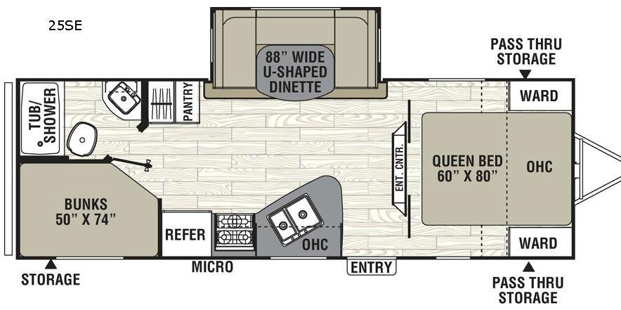 Freedom Express 25SE Floorplan Image