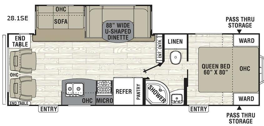 Freedom Express 28.1SE Floorplan Image