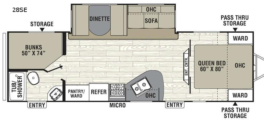 Freedom Express 28SE Floorplan Image