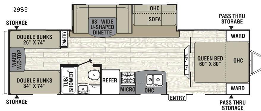 Freedom Express 29SE Floorplan Image