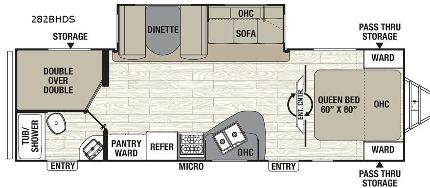 Freedom Express 282BHDS Floorplan Image