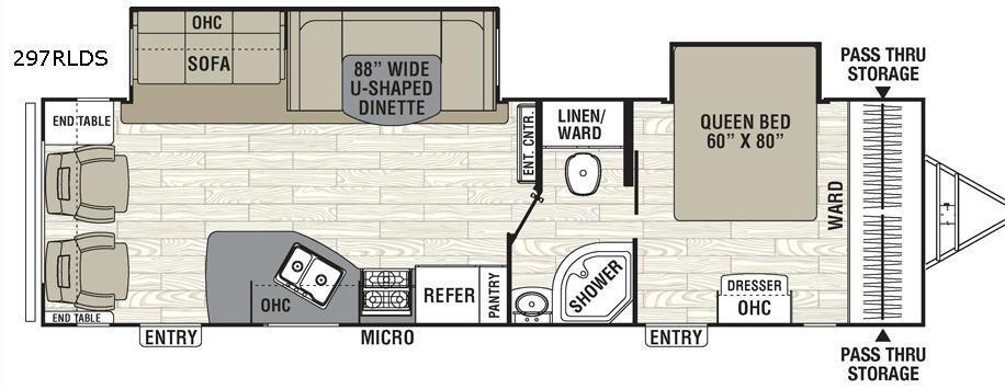 Freedom Express 297RLDS Floorplan Image