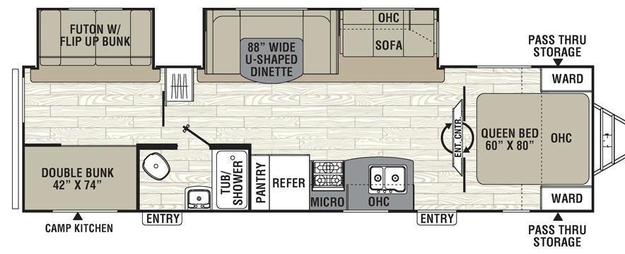 Freedom Express 310BHDS Floorplan Image
