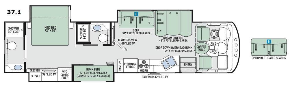 Miramar 37.1 Floorplan Image