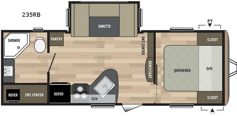 Springdale 235RB Floorplan Image