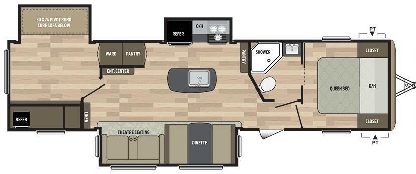 Springdale 332RB Floorplan Image