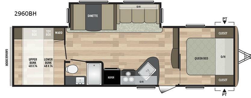 Summerland 2960BH Floorplan Image