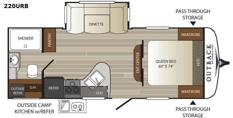 Outback Ultra Lite 220URB Floorplan Image