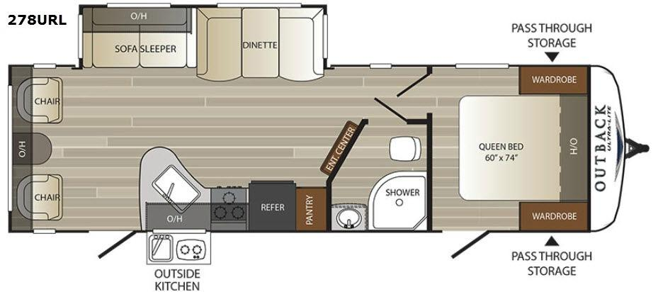 Outback Ultra Lite 278URL Floorplan Image
