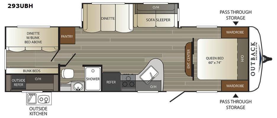 Outback Ultra Lite 293UBH Floorplan Image