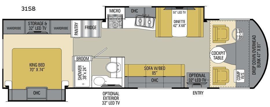 Pursuit 31 SB Floorplan Image