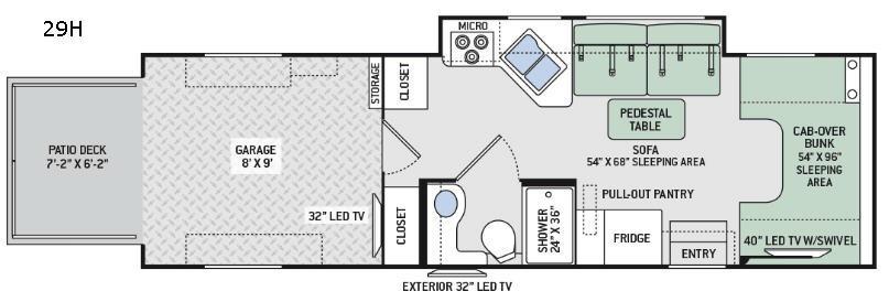 Outlaw Class C 29H Floorplan Image