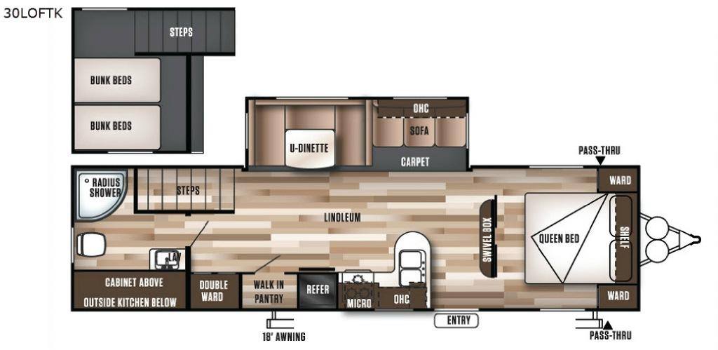 Wildwood 30LOFTK Floorplan Image