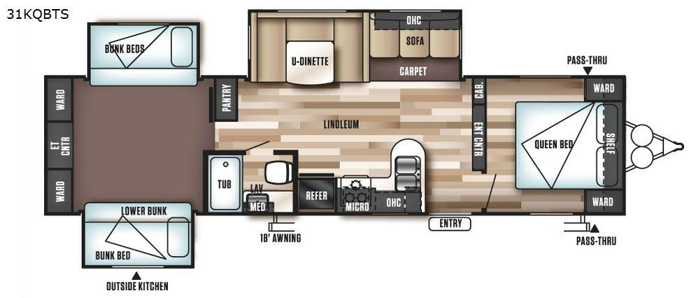 Wildwood 31KQBTS Floorplan Image
