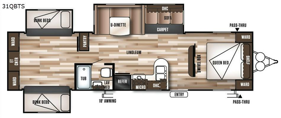 Wildwood 31QBTS Floorplan Image